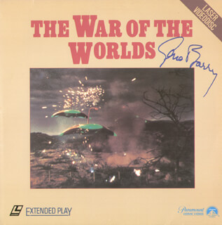 GENE BARRY - LASER MEDIA COVER SIGNED
