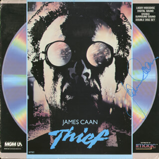 JAMES CAAN - LASER MEDIA COVER SIGNED