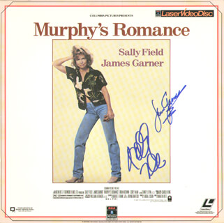 MURPHY'S ROMANCE MOVIE CAST - LASER MEDIA COVER SIGNED CO-SIGNED BY: JAMES GARNER, SALLY FIELD
