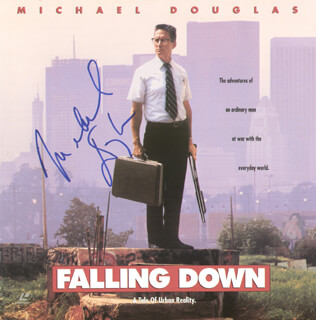 MICHAEL DOUGLAS - LASER MEDIA COVER SIGNED