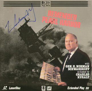GENERAL H. NORMAN SCHWARZKOPF - LASER MEDIA COVER SIGNED