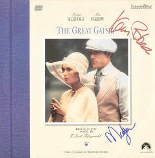 THE GREAT GATSBY MOVIE CAST - LASER MEDIA COVER SIGNED CO-SIGNED BY: KAREN BLACK, MIA FARROW