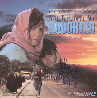 SALLY FIELD - LASER MEDIA COVER SIGNED