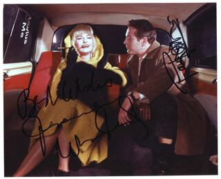 Autographs: A NEW KIND OF LOVE MOVIE CAST - PHOTOGRAPH SIGNED CO-SIGNED BY: JOANNE WOODWARD, PAUL NEWMAN