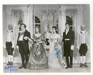 BEAU BRUMMELL MOVIE CAST - AUTOGRAPHED SIGNED PHOTOGRAPH CO-SIGNED BY: ELIZABETH LIZ TAYLOR, PETER USTINOV