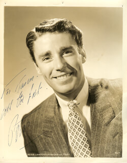 PETER LAWFORD - AUTOGRAPHED INSCRIBED PHOTOGRAPH