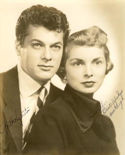 TONY CURTIS - AUTOGRAPHED INSCRIBED PHOTOGRAPH CO-SIGNED BY: JANET LEIGH