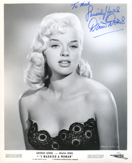 DIANA DORS - AUTOGRAPHED INSCRIBED PHOTOGRAPH