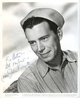 JOHN FORSYTHE - INSCRIBED PRINTED PHOTOGRAPH SIGNED IN INK