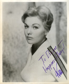 KIM NOVAK - AUTOGRAPHED INSCRIBED PHOTOGRAPH