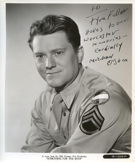 MICHAEL O'SHEA - AUTOGRAPHED INSCRIBED PHOTOGRAPH