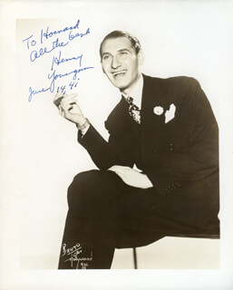 HENNY YOUNGMAN - AUTOGRAPHED INSCRIBED PHOTOGRAPH 06/14/1941