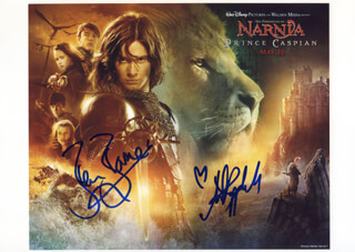 THE CHRONICLES OF NARNIA -PRINCE CASPIAN - AUTOGRAPHED SIGNED PHOTOGRAPH CO-SIGNED BY: BEN BARNES, ANNA POPPLEWELL