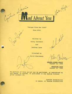 MAD ABOUT YOU TV CAST - SCRIPT SIGNED CO-SIGNED BY: HELEN HUNT, PAUL REISER, CYNTHIA HARRIS, LEILA KENZIE, JOHN PANKOW