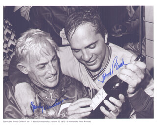 Autographs: SPARKY ANDERSON - PHOTOGRAPH SIGNED CO-SIGNED BY: JOHNNY BENCH