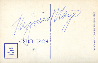 VIRGINIA MAYO - PICTURE POST CARD SIGNED