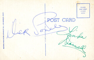 DICK POWELL - PICTURE POST CARD SIGNED CO-SIGNED BY: LINDA DARNELL