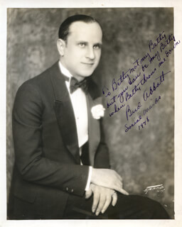 Autographs: ABBOTT & COSTELLO (BUD ABBOTT) - COLLECTION 1948 WITH BETTY ABBOTT