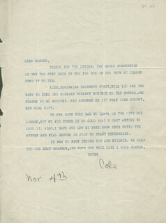 COLE PORTER - TYPED LETTER SIGNED 11/04
