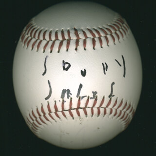 SOUPY SALES - AUTOGRAPHED SIGNED BASEBALL