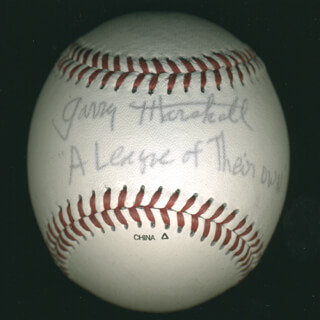 GARRY MARSHALL - AUTOGRAPHED SIGNED BASEBALL