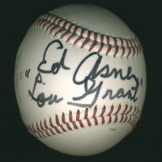 Autographs: ED ASNER - BASEBALL SIGNED