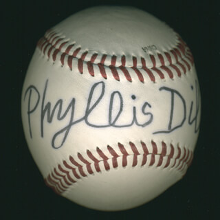 Autographs: PHYLLIS DILLER - BASEBALL SIGNED