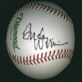 ANDY WILLIAMS - AUTOGRAPHED SIGNED BASEBALL
