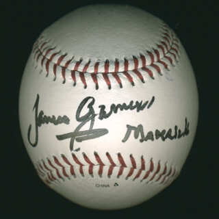 JAMES GARNER - AUTOGRAPHED SIGNED BASEBALL