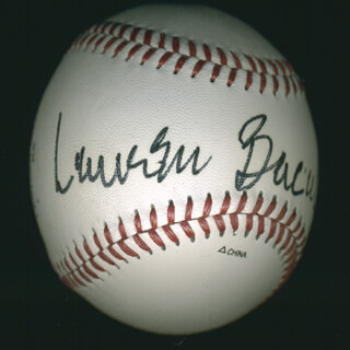 Autographs: LAUREN BACALL - BASEBALL SIGNED