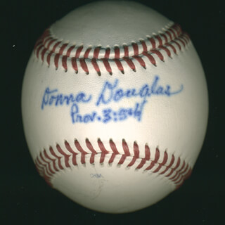 Autographs: DONNA DOUGLAS - BASEBALL SIGNED