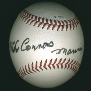 MIKE CONNORS - AUTOGRAPHED SIGNED BASEBALL