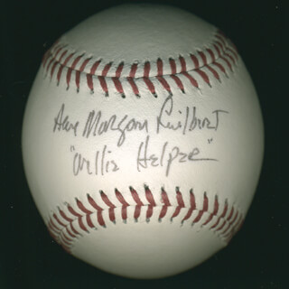 ANN MORGAN GUILBERT - AUTOGRAPHED SIGNED BASEBALL