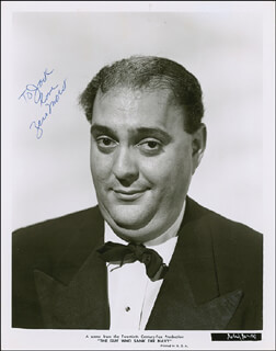 ZERO MOSTEL - AUTOGRAPHED INSCRIBED PHOTOGRAPH