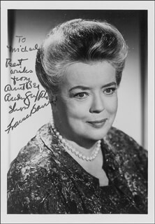 FRANCES E. BAVIER - AUTOGRAPHED INSCRIBED PHOTOGRAPH