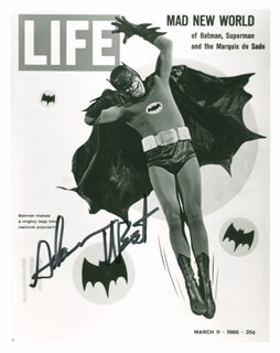 ADAM WEST - AUTOGRAPHED SIGNED PHOTOGRAPH