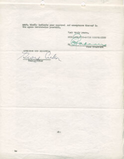 GEORGE D. CUKOR - CONTRACT SIGNED 04/10/1936 CO-SIGNED BY: EDDIE MANNIX