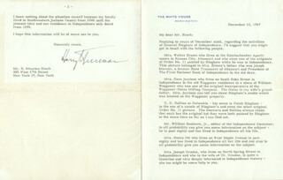 PRESIDENT HARRY S TRUMAN - TYPED LETTER SIGNED 12/16/1947