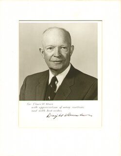 PRESIDENT DWIGHT D. EISENHOWER - AUTOGRAPHED INSCRIBED PHOTOGRAPH