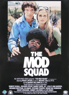 MOD SQUAD TV CAST - AUTOGRAPHED SIGNED POSTER CO-SIGNED BY: MICHAEL COLE, PEGGY LIPTON, CLARENCE WILLIAMS III