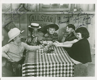 OUR GANG TV CAST - AUTOGRAPHED INSCRIBED PHOTOGRAPH CO-SIGNED BY: SPANKY McFARLAND, DARLA JEAN HOOD