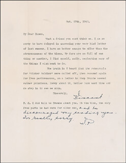 VINCENT PRICE - TYPED LETTER SIGNED