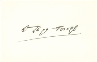 PRIME MINISTER DAVID LLOYD GEORGE (GREAT BRITAIN) - AUTOGRAPH 10/20/1922