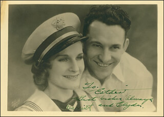 CLYDE BEATTY - AUTOGRAPHED SIGNED PHOTOGRAPH CO-SIGNED BY: HARRIET (MRS. CLYDE) BEATTY