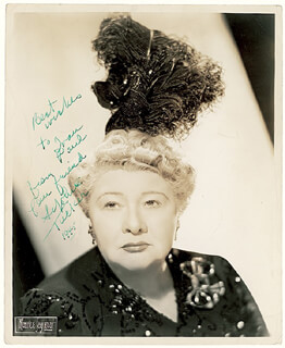 SOPHIE TUCKER - AUTOGRAPHED INSCRIBED PHOTOGRAPH 1945