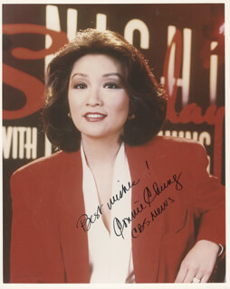 CONNIE CHUNG - AUTOGRAPHED SIGNED PHOTOGRAPH