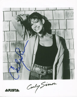 CARLY SIMON - AUTOGRAPHED SIGNED PHOTOGRAPH