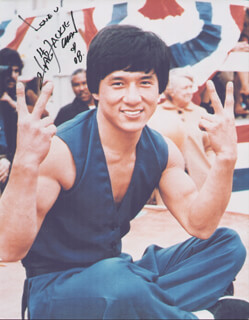 JACKIE CHAN - AUTOGRAPHED SIGNED PHOTOGRAPH