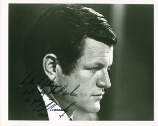 EDWARD TED KENNEDY - AUTOGRAPHED INSCRIBED PHOTOGRAPH 1970