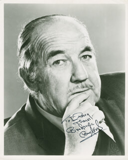 BRODERICK CRAWFORD - AUTOGRAPHED INSCRIBED PHOTOGRAPH